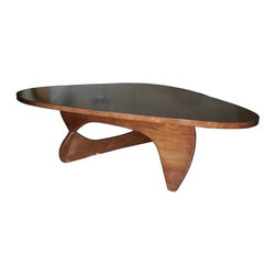 Fine Mod Imports - Rare Coffee Table (Walnut) - Finish: WalnutContemporary style. Wooden top and two interlocking base. Warranty: One year. Assembly required. 50 in. W x 36 in. D x 16 in. H (80 lbs.)This classic design was first produced in 1944.
