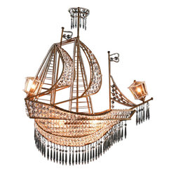 EuroLux Home - New Large Sailing Ship Crystal Chandelier 6 - Product Details