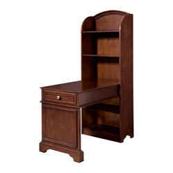 Lea Elite Covington Bookcase Desk in Warm Cherry