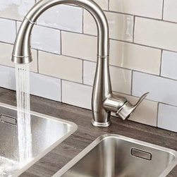 Kitchen Products - Grohe Parkfield single-handle pullout kitchen faucet. Available in chrome, steel, and oil-rubbed bronze.