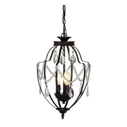 MIDWEST CBK - Antique Brown Lantern Chandelier 25W Max - Antique Brown Lantern Chandelier. 25W Max. Shop home furnishings, decor, and accessories from Posh Urban Furnishings. Beautiful, stylish furniture and decor that will brighten your home instantly. Shop modern, traditional, vintage, and world designs.