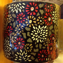 Lampshade Styles - red mosaic modern drum