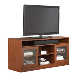 "Jesper - Jesper - Entertainment Collection - 63"" Tv Cabinet - Cherry - This high-performing Entertainment Collection is cleverly designed making it easy to create the ideal media space in a small corner or large airy space."