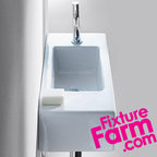 FixtureFarm.com - Duravit USA, Duravit Vero Compact Sink Washbasin 070350