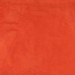Orange Microsuede Suede Upholstery Fabric By The Yard - Our microsuede upholstery fabric will look great on any piece of furniture. This material is easy to clean and is very durable.