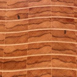 Mirage, reclaimed New York water tower redwood end-grain wood flooring - Allan Linder