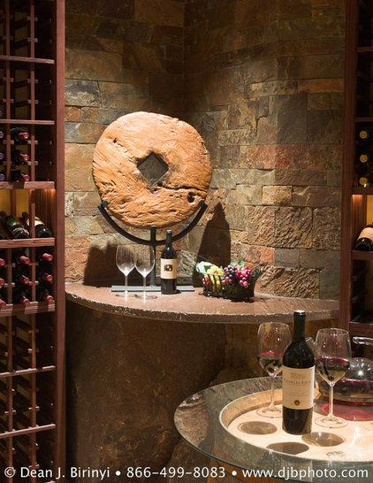 Traditional Wine Cellar by Dean J. Birinyi Photography
