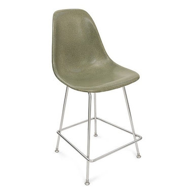 """Modernica H Base 25"""" Counter Stool Side Shell Chair - The Case Study Fiberglass 25"""" Counter Stool is a simple and clean look. Pick your favorite shell for a visually solid chair that will look great in any kitchen."""
