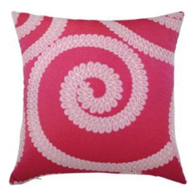 """New Elaine Smith Pillows - Kaleidoscope Spiral Pink - 20"""" x 20"""" Elaine Smith Pillows"""