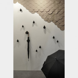 Small Dropit Hooks - Create your own indoor rain shower with these raindrop-shaped hooks from Asshoff & Brogard.