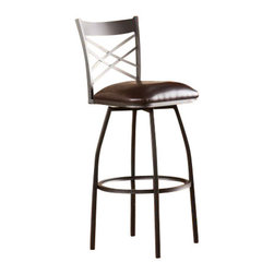 Holly and Martin - Jericho Adjustable Counter/Bar Stool - Switch up your seating options with an elegant, adjustable stool. This ingenious stool offers a dynamic solution for bar or counter seating.