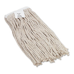 UNISAN - UNISAN Cut-End Wet Mop Head, Cotton, No. 16 Size, White - Clean up quicker with a high-quality, ultra-absorbent mop head. Cut-end design minimizes snags. Heavy-duty headband ensures secure attachment. For use with clamp-style mop handles (sold separately).