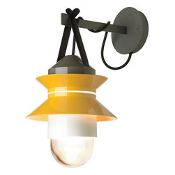 Marset - Santorini Outdoor Wall Light - Marset - Reminiscent of the old fishing boat lanterns, Santorini allows the user to customize a remarkable outdoor lighting experience. The user can chose how many shades to attach to the diffuser, the order in which they hang and choose direction as well as position for a vast array of combinations of direct or reflected light.