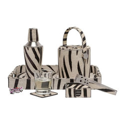 Browmley Bar Set-Zebra - As functional as it is decorative, our Browmley collection will make hitting the bottle a sophisticated affair. The hair-on-hide sets comes in four striking finishes, putting the fun in functional for hosts with the most.