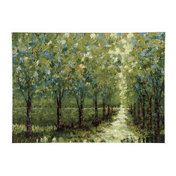 Ballard Designs - Spring Walkway Giclee - Just meandering down a beautiful path in your imagination feels like an escape from reality. And this gorgeous painting provides just that!