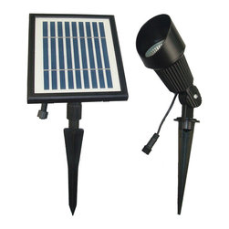 "Solar Goes Green - Solar Goes Green SGG-S12 LED Solar Flagpole and Spot Light - SGG-S12 Solar Flagpole and Spot Light - America's Favorite Solar Lights For Flagpoles           12 high powered super bright LED bulbs          Pro-grade cast aluminum construction flag pole light          Beam projection: 25 feet by 6 feet (cone)Battery-Li-ion 3.7V 2000 rechargeable battery (included) - replace every 12-18 months Light fixture size: 5"" high x 3.5"" wide Solar panel size: 7"" wide x 8"" tall"