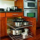 Rev-A-Shelf In-Cabinet Chrome Cabinet Organizer - Fit twice the amount of pans in one small space. Perfect.