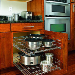 Rev-A-Shelf In-Cabinet Chrome Cabinet Organizer