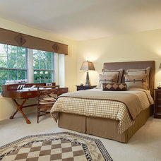 Eclectic Bedroom by DECORATING DEN INT. SHELLEY RODNER C.I.D.