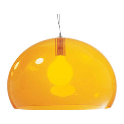 Kartell - FL/Y Suspension Lamp, Transparent Yellow - Designed by Ferruccio Laviani.