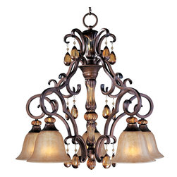 Maxim Dresden Old World 5 Light Down Chandelier - ORDER ON HOUZZ TODAY FROM LEE LIGHTING.
