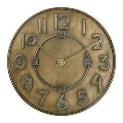 BULOVA - Frank Lloyd Wright Exhibition Wall Clock - Dimensional cast resin case.