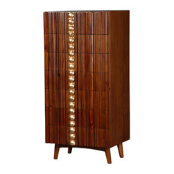 Iven Chest - Outta sight! Midcentury modern meets 1960s swank with this stylish seven-drawer wooden chest that's perfect for your modern bedroom.