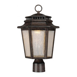 Minka-Lavery - Minka-Lavery Wickford Bay 3-Light Outdoor Post Mount - 8276-A357 - This 3-Light Post Light has a Bronze Finish and is part of the Wickford Bay Collection.