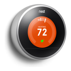 The Nest Learning Thermostat - Nest learns what temperatures you like, turns itself down when you're away and can be controlled from your phone or tablet. No more beige box on your wall, no more programming, no more wasting energy. Saving energy is a beautiful thing.