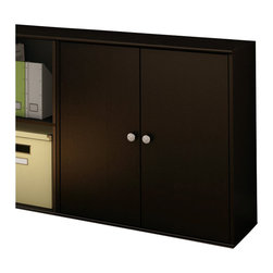 South Shore - South Shore Stor It 4 Cubby Storage Unit with Doors in Chocolate - South Shore - Storage Cabinets - 5059773 - This cabinet from the Stor It collection in Chocolate finishhas four cubes designed to maximize storage in all the rooms of yourhouse. Its curved lines and minimalist design are typical of thetransitional style that matches any decor so well. Match it up withother pieces from the Stor It collection to create your own storagesolution.Features: