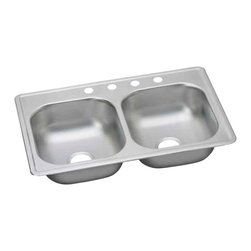 "Dayton - Elkay D233194  33"" x 19"" Dayton Sink - Elkay's D233194 is a 33"" x 19"" Dayton Sink. This sink is constructed from 22-gauge, 301 Series, nickel bearing stainless steel, and can be mounted on top of almost any surface."