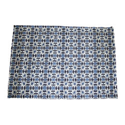 "Grey House Linens - The Shira Collection Patterned Placemats - Placemats measure 14"" x 20""."