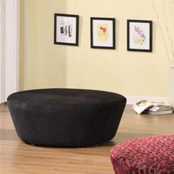 Armen Living - Armen Living Hostess Round Chenille Ottoman - LC6022OTPU - Shop for Ottoman & Footstools from Hayneedle.com! Whoever said parents need to choose between style and kids was out of their pompous mind. With the Armen Living Hostess Round Chenille Ottoman - Black you can score the best of both worlds by giving your offspring a durable ottoman and your living room some much-needed individuality.About Armen LivingImagine furniture without limits - youthful robust refined exuding self-expression at every angle. These are the tenets Armen Living's designers abide by when creating their modern furniture collections. Building on more than 30 years of industry experience Armen Living combines functional versatility and expert craftsmanship into their dramatic furniture styles all offered at price points fit for discriminating budgets. Product categories include bar stools club chairs dining tables ottomans sofas and more. Armen Living is based in Sun Valley Calif.