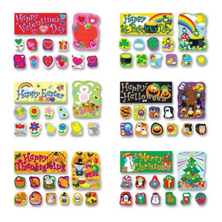 Carson-Dellosa - Carson-Dellosa Holiday Bulletin Board Set - 0.1 x 20 x 29.5 - Multicolor - Bulletin board set bring the holidays back into the classroom. Compact bulletin board set includes six major holidays: Valentine's Day, Easter, St. Patrick's Day, Halloween, Thanksgiving, and Christmas. This 72-piece holiday-themed set includes six holiday scenes (each 8-1/2 x 11), 36 large accents (six per holiday), 24 small accents (four per holiday), and six holiday headers (one per holiday). Holidays Bulletin Board set is designed for students in second through fifth-grade and ages 7 to 10.