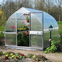 Hoklartherm - Hoklartherm RIGA IIIS 7.6 x 10.5-Foot Greenhouse Kit - RIGAIIIS/RIGAIIISBASE/TOP - Shop for Greenhouses from Hayneedle.com! Additional Features8 MM UV-coated twin wall polycarbonate over main bodyFront and back 10 MM UV-coated twin wall polycarbonate10 MM polycarbonate provides extra strengthIncludes a base 14 inch depth single top shelf and a 25 inch depth regular shelfTop shelf hangs forward so it doesn't block the lightShelving is suspended to provide maximum storageBoth shelf inserts use twin polycarbonateTwin polycarbonate allows for better light distributionInserts are removable to make room for taller plantsSome assembly requiredDutch barn door measures 30W x 72H inchesPeak height measuresMeasures 7.6W x 10.5L x 6.9H feetYou'll love being able to grow fresh produce plants and flowers all year round with the RIGA IIIS 7.6 x 10.5-Foot Greenhouse Kit. Designed to give you optimal performance this greenhouse features 8 MM UV-coated twin wall polycarbonate over the entire body and 10 MM UV-coated twin wall polycarbonate on the front and back to ensure your plants are protected year-round. It also guarantees that you will be able to grow new plants in any season even in winter.The RIGA IIIS Greenhouse Kit includes a base a single top shelf and a regular shelf. Both shelves use twin-wall polycarbonate inserts allowing for better light distribution. A downward angled top shelf makes it easier to reach and ensures it won't block sunlight. Both shelves are suspended to make sure you do not lose storage space in your greenhouse. The strongest greenhouse in its class the frame profiles are permanently attached so they won't loosen over time. The doors and windows provide great ventilation for your plants and the sturdy Dutch barn doors even have a key lock. Assembly is a weekend project for one or two people.About HoklarthermAfter erecting his first greenhouse the thermo semicular arch greenhouse in his family garden in 1978 Mr. Werner Hollander graduate en