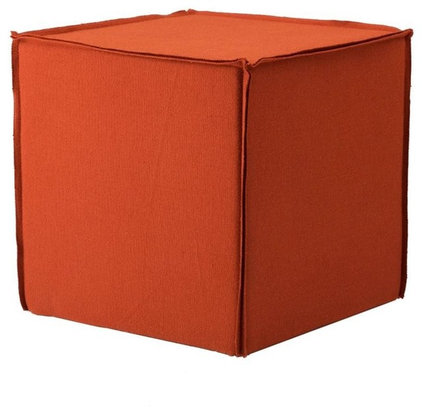 modern ottomans and cubes by Blu Dot