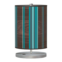 Vertical Stripey 1 Cylinder Table Lamp