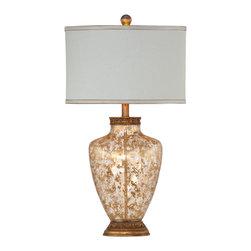 Bassett Mirror - Bassett Mirror Marlborough Table Lamp L2701TEC - Bassett Mirror Marlborough Table Lamp L2701TEC