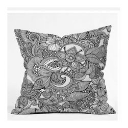 "DENY Designs - Valentina Ramos Doodles Throw Pillow - Wanna transform a serious room into a fun, inviting space? Looking to complete a room full of solids with a unique print? Need to add a pop of color to your dull, lackluster space? Accomplish all of the above with one simple, yet powerful home accessory we like to call the DENY Throw Pillow! Features: -Valentina Ramos collection. -Color: Print. -Material: Woven polyester. -Sealed closure. -Spot treatment with mild detergent. -Made in the USA. -Closure: Concealed zipper with bun insert. -Small dimensions: 16"" H x 16"" W x 4"" D. -Medium dimensions: 18"" H x 18"" W x 5"" D. -Large dimensions: 20"" H x 20"" W x 6"" D. -Product weight: 3 lbs."