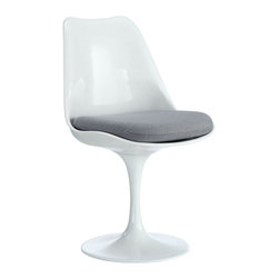 Modway - Lippa Dining Side Chair in Gray - The Lippa Side Chair adds the perfect modern classic touch to any dinning space. Sturdy, easy to clean and lovely to behold, these chairs elevate a meal to whole new levels of enjoyment. Available in an array of colors, the Lippa Chair makes it easy to express your individual style.