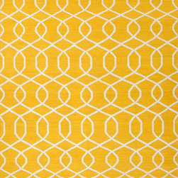 Jaipur Rugs - Flat Weave Geometric Pattern Gold /Yellow Wool Handmade Rug - UB13, 9x12 - A range of beautifully designed flat weaves in a stunning color palette. Hand woven from 100% wool, each rug has its own personality and is versatile and easy to use.