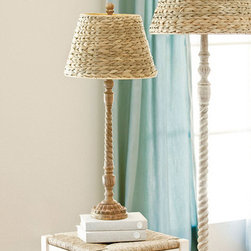 Ballard Designs - Tasseau Table Lamp - I love the fluted shape of this gorgeous lamp with a natural sea grass shade.