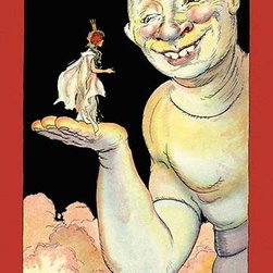 """Buyenlarge.com, Inc. - Airman and Ozma- Fine Art Giclee Print 24"""" x 36"""" - John Rea Neill (1877 - 1943) was a magazine and children's book illustrator primarily known for illustrating more than forty stories set in the Land of Oz, including L. Frank Baum's, Ruth Plumly Thompson's, and three of his own. His pen-and-ink drawings have become identified almost exclusively with the Oz series."""