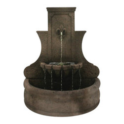 Fleur de Lis Wall Fountain, Barocco - The lovely Fleur de Lis Wall Fountain is a captivating piece of art that can beautify any outdoor setting or garden. It's made of superior materials and it will last for a lifetime. By having this fountain, you're creating a serene ambiance that everyone will surely enjoy and love.