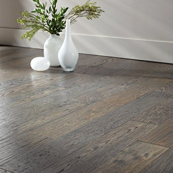 SOLID SAWN Collection - SOLID SAWN Hand Scraped White Oak Gotham Pearl