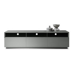 JNM Furniture - Modern Tv Stand TV023 by JNM, Grey High Gloss - TV Stand TV023 in Modern Style