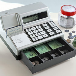 Cash Register & Play Money - A great addition to any play café or store, our realistic cash register and play-money set is perfect for young entrepreneurs. The cash and coins are slightly larger than real money, making them easy to handle while helping kids practice counting and coin recognition.