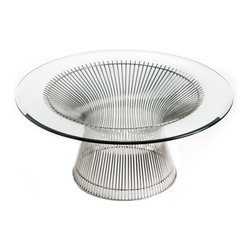 IFN Modern - Platner Style Coffee Table - â— Steel Wire Baseâ— Stainless Steelâ— Steel will not rust or chip over time