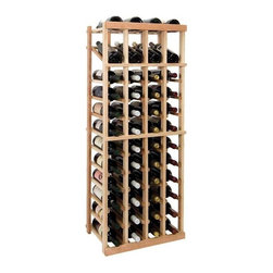 Wine Cellar Innovations - 4 ft. 4-Column Individual Wine Rack w Display (Rustic Pine - Light Stain) - Choose Wood Type and Stain: Rustic Pine - Light StainBottle capacity: 48. Four column wine rack. Versatile wine racking. Custom and organized look. Built in display row. Beveled and rounded edges. Ensures wine labels will not tear when the bottles are removed. Can accommodate just about any ceiling height. Optional base platform: 18.69 in. W x 13.38 in. D x 3.81 in. H (5 lbs.). Wine rack: 18.69 in. W x 13.5 in. D x 47.19 in. H (7 lbs.). Vintner collection. Made in USA. Warranty. Assembly Instructions. Rack should be attached to a wall to prevent wobble