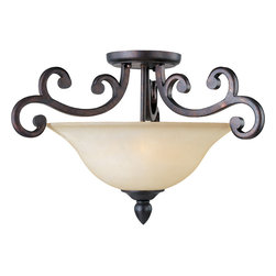 Richmond-Semi-Flush Mount - Simplicity meets elegance in this new collection of forged iron frames hand painted in our new Colonial Umber finish. The optional large scale crystals add a touch of class while the addition of the shades creates the perfect lighting effect. Some styles